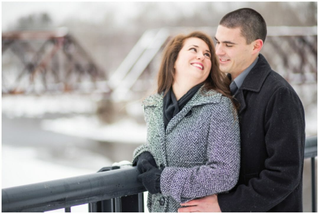 Ashley + Kyle | Winter Wonderland Engagement