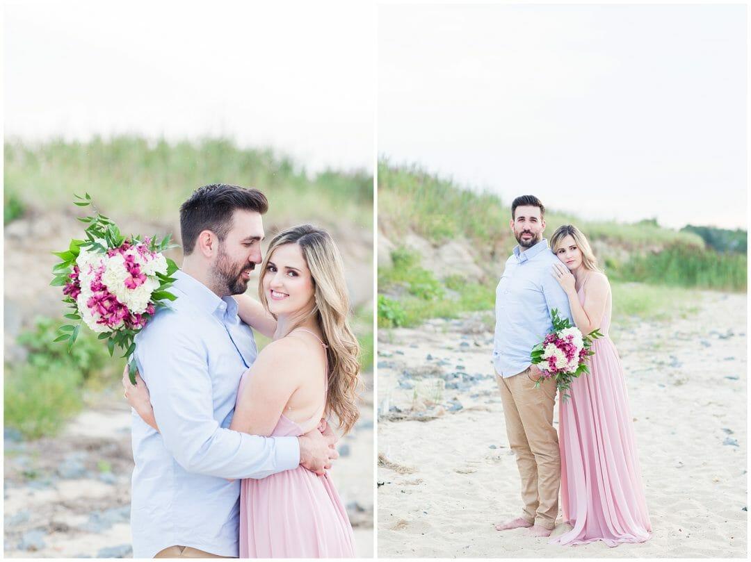 Adam + Marilia | Cape Cod Beach Engagement