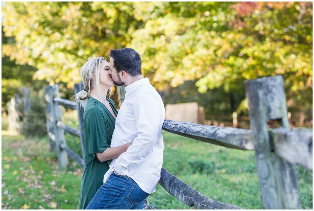 Christina + Chad | Fall Engagement featuring Ludo