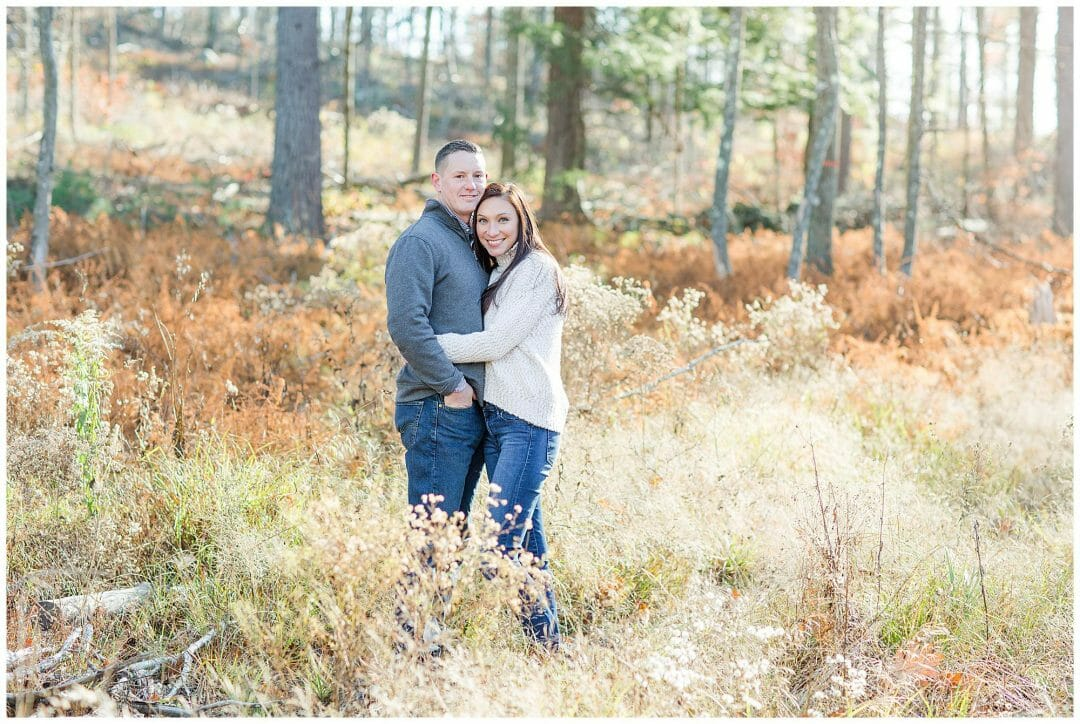 Corrie + Zach | Woodsy Fall Engagement