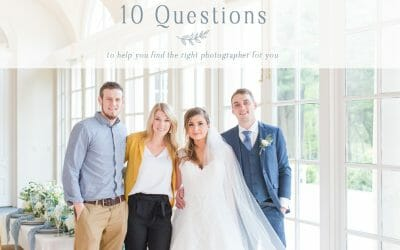 Finding Your Wedding Photographer | 10 Questions to ask