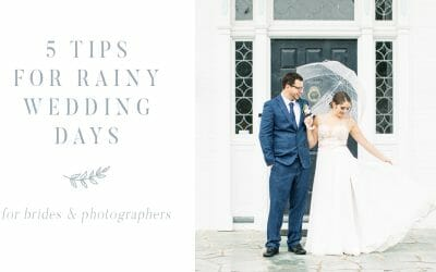 5 Tips for Rainy Wedding Days