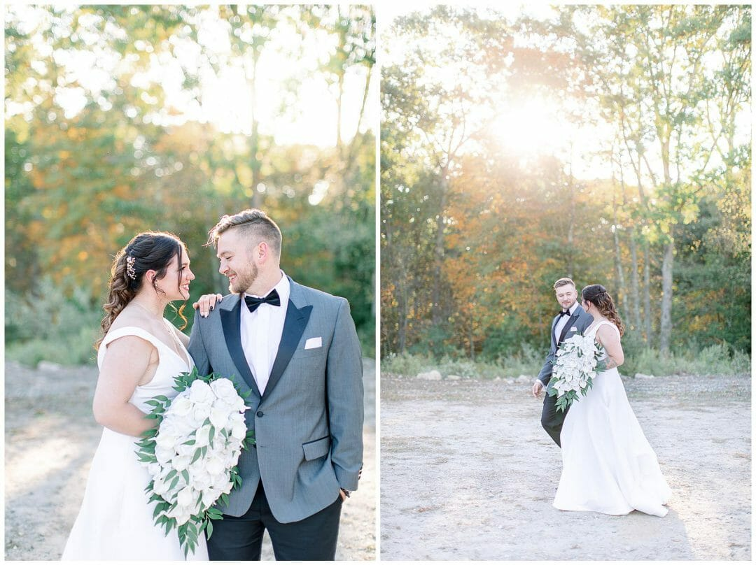 New England Fall Wedding with Bride & Groom