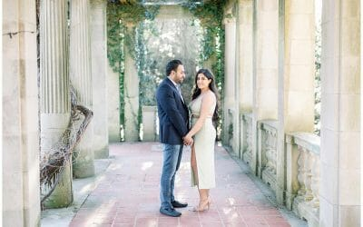 A Romantic Spring Engagement at Eolia Mansion