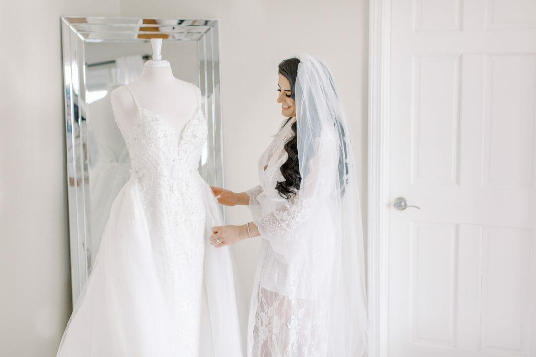 bride with wedding dress