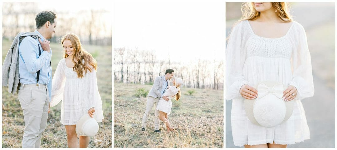 Stylish Spring Engagement at the Quabbin Reservoir
